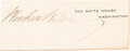 Political:Small Paper (1896-present), Woodrow Wilson: Clipped Signature....