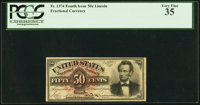 Fr. 1374 50¢ Fourth Issue Lincoln PCGS Very Fine 35