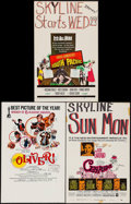 "Movie Posters:Academy Award Winners, Oliver! & Others Lot (Columbia, 1968). Window Cards (3) (14"" X22"") Academy Awards Style. Musical.. ... (Total: 3 Items)"