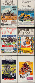 """Movie Posters:Adventure, Rampage & Others Lot (Warner Brothers, 1963). Window Cards (6)(14"""" X 22""""). Adventure.. ... (Total: 6 Items)"""