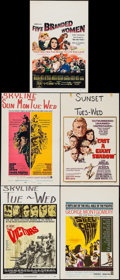 "Movie Posters:War, The Victors & Others Lot (Columbia, 1963). Window Cards (4)(14"" X 22""). War.. ... (Total: 5 Item)"