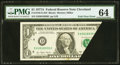 Error Notes:Foldovers, Fr. 1910-D $1 1977A Federal Reserve Note. PMG Choice Uncirculated64.. ...