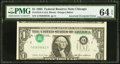 Error Notes:Inverted Third Printings, Fr. 1913-G $1 1985 Federal Reserve Note. PMG Choice Uncirculated 64EPQ.. ...