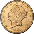 Liberty Double Eagles, 1893-CC $20 MS62 PCGS. Variety 2-A....