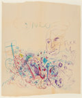 Post-War & Contemporary:Contemporary, George Condo (b. 1957). Untitled, circa 1990-93. Crayon onpaper. 39-1/4 x 33 inches (99.7 x 83.8 cm) (sheet). Signed up...