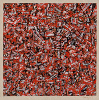 Mark Tobey (1890-1976) Traffic, 1959 Oil on paper 6-3/8 x 6-1/4 inches (16.2 x 15.9 cm) Signed