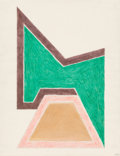Works on Paper, Frank Stella (b. 1936). Untitled, 1966. Watercolor, marker, and pencil on paper. 22 x 17 inches (55.9 x 43.2 cm) (sheet)...