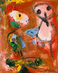 Hans Hofmann (1880-1966) The Heinzelman, 1946 Oil on plywood 20 x 16 inches (50.8 x 40.6 cm) S