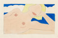 Post-War & Contemporary:Pop, Tom Wesselmann (1931-2004). Study for Proposed SeascapeReclining Nude, 1963. Acrylic and pencil on board. 9-7/8 x15-1/...