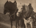 Photographs:Photogravure, Alfred Stieglitz (American, 1864-1946). Scurrying Home; Horses;Miss S.R. (three works), 1894; 1904; 1904. Photogravures...(Total: 3 Items)