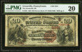National Bank Notes:Pennsylvania, Greenville, PA - $20 1882 Brown Back Fr. 501 The Greenville NB Ch.# (E)2251. ...