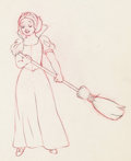 Animation Art:Production Drawing, Snow White and the Seven Dwarfs Animation Drawing (Walt Disney, 1937).. ...