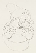 Animation Art:Production Drawing, Snow White and the Seven Dwarfs Doc Animation Rough Drawing(Walt Disney, 1937).. ...