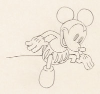 Ye Olden Days Mickey Mouse and Minnie Mouse Animation Drawing (Walt Disney, 1933)