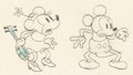 Animation Art:Production Drawing, Camping Out Mickey Mouse and Minnie Mouse Animation Drawing(Walt Disney, 1934)....