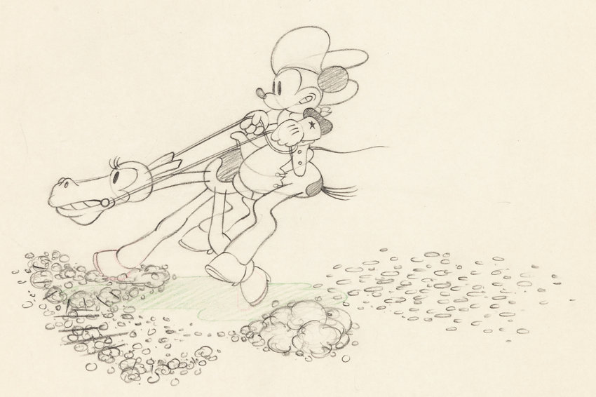 Line Drawing Mouse : Two gun mickey mouse animation drawing walt disney 1934