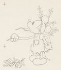 Animation Art:Production Drawing, Mickey's Mellerdrammer Mickey Mouse Animation Drawing (WaltDisney, 1933). ...