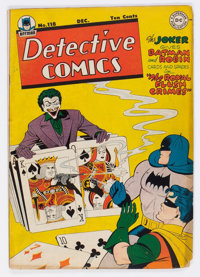 Detective Comics #118 (DC, 1946) Condition: GD/VG