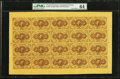 Fractional Currency:First Issue, Fr. 1230 5¢ First Issue Full Sheet of Twenty PMG ChoiceUncirculated 64.. ...