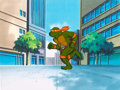 Animation Art:Production Cel, Teenage Mutant Ninja Turtles Michaelangelo Production Cel(Murakami-Wolf-Swenson, c. 1987)....