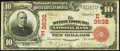National Bank Notes:Pennsylvania, Stroudsburg, PA - $10 1902 Red Seal Fr. 615 The Stroudsburg NB Ch.# (E)3632. ...