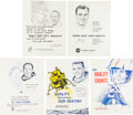 Explorers:Space Exploration, NASA Manned Flight Awareness Posters: Group of Five Originals Featuring Individual Apollo Astronauts.... (Total: 5 Items)