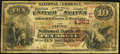 National Bank Notes:Pennsylvania, Pen Argyl, PA - $10 1882 Brown Back Fr. 484 The First NB Ch. #(E)4352. ...