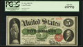 Large Size:Legal Tender Notes, Fr. 63a $5 1863 Legal Tender PCGS Gem New 65PPQ.. ...