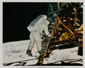 Autographs:Celebrities, Neil Armstrong Signed Apollo 11 Lunar Surface Color Photo,Uninscribed. ...