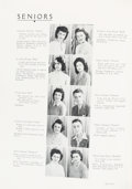"""Explorers:Space Exploration, Gus Grissom 1944 """"Gold and Blue"""" High School Yearbook, also with Future Wife Betty Moore, Unsigned. ..."""