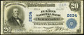 National Bank Notes:Pennsylvania, Lancaster, PA - $20 1902 Plain Back Fr. 660 The Fulton NB Ch. #2634. ...