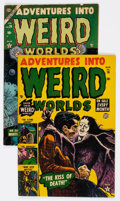 Golden Age (1938-1955):Horror, Adventures Into Weird Worlds #16 and 26 Group (Atlas, 1953-54)....(Total: 2 Comic Books)