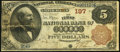 National Bank Notes:Pennsylvania, York, PA - $5 1882 Brown Back Fr. 466 The First NB Ch. # 197. ...