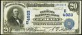 National Bank Notes:Pennsylvania, Ephrata, PA - $20 1902 Date Back Fr. 648 The Farmers NB Ch. #(E)4923. ...