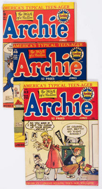 Archie Comics Group of 5 (Archie, 1950-52) Condition: Average VG.... (Total: 5 Comic Books)