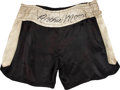 Boxing Collectibles:Memorabilia, Circa 1960 Archie Moore Fight Worn, Signed Boxing Trunks....