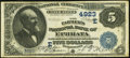 National Bank Notes:Pennsylvania, Ephrata, PA - $5 1882 Date Back Fr. 533a The Farmers NB Ch. # (E)4923. ...