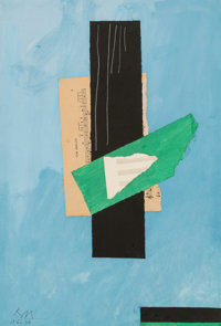 Robert Motherwell (1915-1991) Cor Anglais, 1976 Acrylic and pasted papers on paper 22 x 15 inches