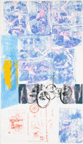 Post-War & Contemporary:Pop, Robert Rauschenberg (1925-2008). Azure Reef (Renault PaperWork), 1984. Solvent transfer and acrylic on fabriclaminated...