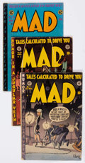 Golden Age (1938-1955):Humor, MAD/Panic Group of 8 (EC, 1953-55) Condition: Average GD+.... (Total: 8 Comic Books)
