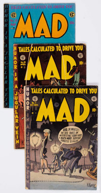 MAD/Panic Group of 8 (EC, 1953-55) Condition: Average GD+.... (Total: 8 Comic Books)
