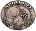 Explorers:Space Exploration, Apollo 14 Flown Silver Robbins Medallion, Serial Number 207, withProvenance Note....