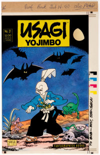 Stan Sakai Usagi Yojimbo #21 Cover Color Proof (Fantagraphics, 1990)