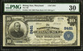 National Bank Notes:Maryland, Rising Sun, MD - $10 1902 Plain Back Fr. 633 The NB of Rising Sun Ch. # 2481. ...