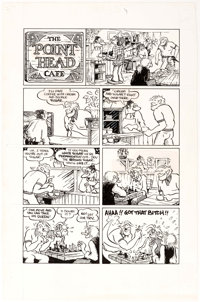 """Ted Richards San Francisco Comic Book #4: """"The Point Head Cafe"""" Complete 2-Page Story Original Art (The Print..."""