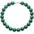 Estate Jewelry:Necklaces, Malachite, Sterling Silver Necklace . ...