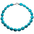 Estate Jewelry:Necklaces, Turquoise, Sterling Silver Necklace . ...