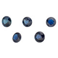 Estate Jewelry:Unmounted Gemstones, Unmounted Sapphires. ... (Total: 5 Items)