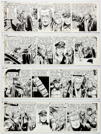 George Wunder Terry and the Pirates Daily Comic Strip Original Art Group of 4 Consecutive (New York News Inc., 197... (T...