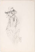 Original Comic Art:Sketches, Jack Davis - Cowboy Sketch Original Art (unpublished, 2008)....